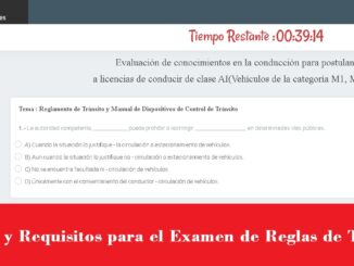 Costos y Requisitos para el Examen de Reglas de Tránsito