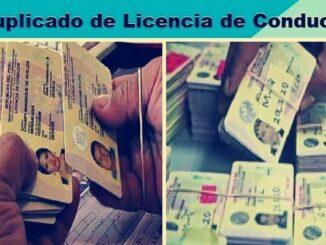 duplicado de licencia de conducir perú