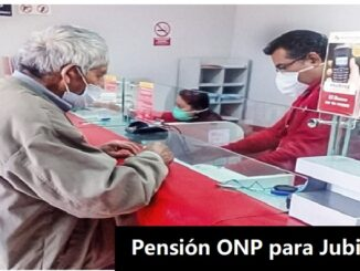 Pensión ONP para Jubilados