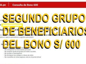 SEGUNDO GRUPO DE BENEFICIARIOS DEL BONO S/ 600