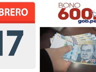 17 de febrero pago bono 600