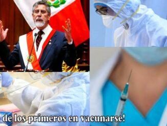 Sagasti se vacuna