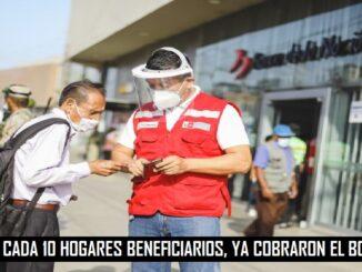 6 DE CADA 10 HOGARES BENEFICIARIOS, YA COBRARON EL BONO 600
