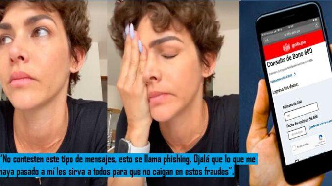 Anahí de Cárdenas sufre robo bajo la modalidad del pishing
