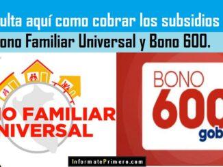 Bono Familiar Universal y Bono 600
