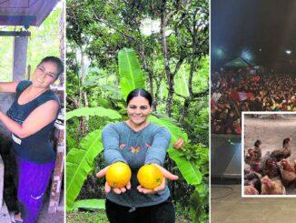 Dina Paúcar dejo los escenarios para sembrar árboles y criar animales