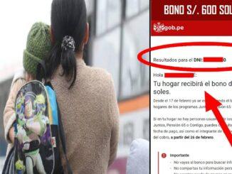 NOTA: Es una mientira que los niños sean nuevos beneficiarios del bono 600 soles