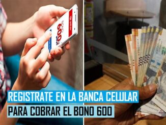 REGISTRATE EN LA BANCA CELULAR PARA COBRAR EL BONO 600