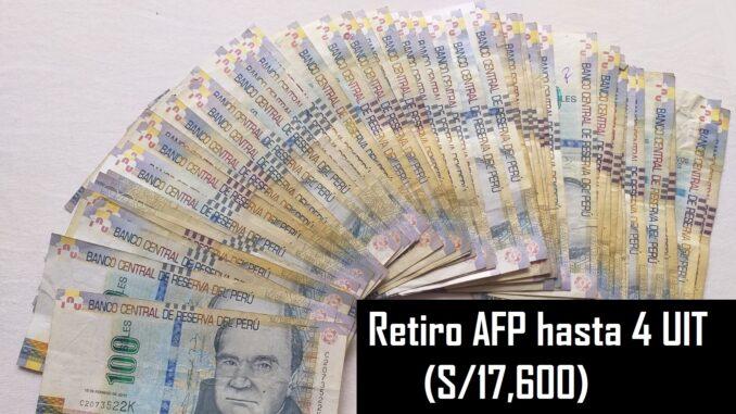 Retiro AFP hasta 4 UIT