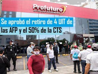 Se aprobó el retiro de 4 UIT de las AFP y el 50% de la CTS