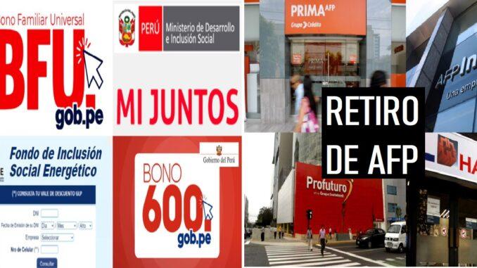 BONOS Y RETIRO DE AFP