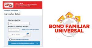 Bono Familiar Universal y 600 soles