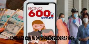 GRUPO 4 DEL BONO 600 SOLES: Consulta con  tu DNI si puedes cobrar hoy