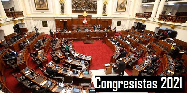 Congresistas 2021