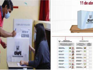 Pasos para sufragar en las elecciones 2021