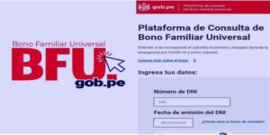 Bono 600 soles y Bono Familiar Universal: Plataforma y como consultar con DNI