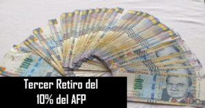 Tercer Retiro del 10% del AFP