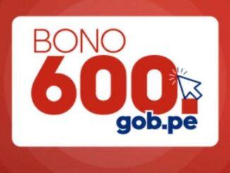 Último bono 600 soles
