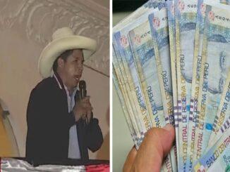 Propuestas de Pedro Castillo: Bono de s/ 200 soles