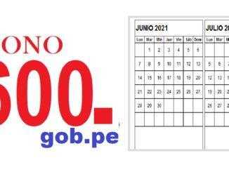 BONO 600 JUNIO Y JULIO 2021