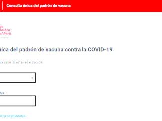 Consulta única del padrón de vacuna contra la COVID-19