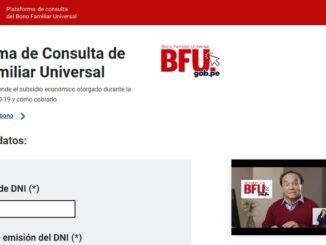 Plataforma de Consulta de Bono Familiar Universal