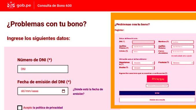 problemas para cobrar el bono 600 soles ¿Qué puedo hacer?