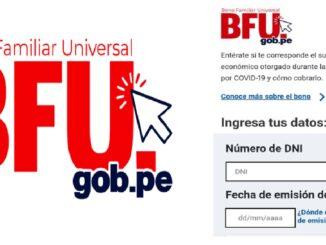 último BFU de s/ 760 Bono Universal