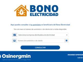 Bono de Electricidad de 160 soles