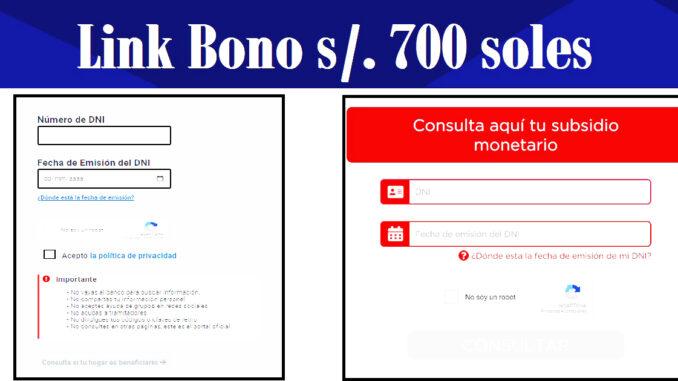 Link Bono 700 soles