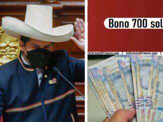 Pedro Castillo anunció que su gobierno brindará bono de S/ 700 para cada familia vulnerable