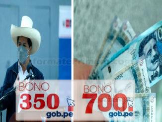 Bono YANAPAY de 350 soles