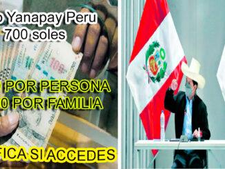 Bono Yanapay Conoce si eres beneficiario