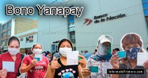Bono Yanapay de 350 y 700 soles