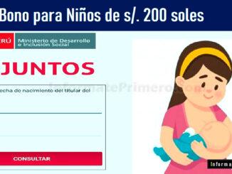 Bono para Niños de 200 soles