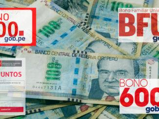Bonos del Estado peruano disponibles para consultar y cobrar