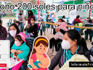 Consulta si eres beneficiario del bono 200 soles para niños