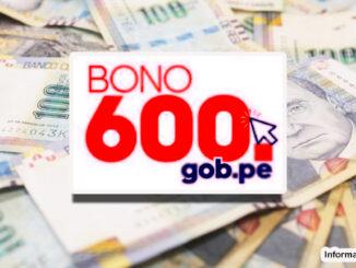 Consultar Bono 600 gob pe