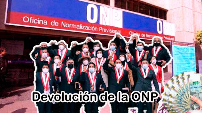 Propuesta para devolución de la ONP