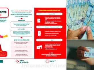 creación de la Cuenta DNI para cobrar el Bono Yanapay