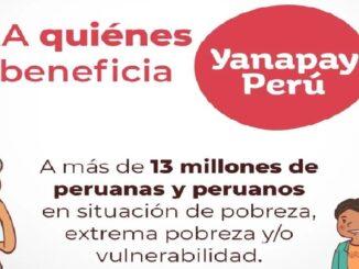 13 de setiembre Quienes podrán acceder al Bono Yanapay Perú