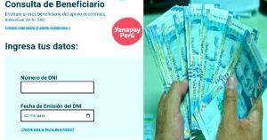 Consulta aquí si eres beneficiario de este subsidio Yanapay