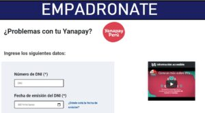 EMPADRONATE AL BONO YANAPAY