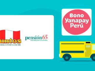 Usuarios de Pensión 65 y Programa Juntos recibirán el bono yanapay mediante los carritos pagadores