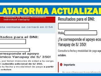 actualización de la plataforma del Bono Yanapay Perú