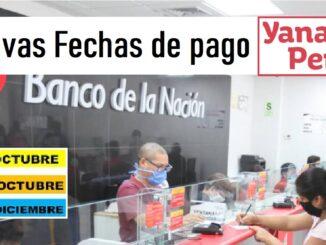 cronograma de pagos del Bono Yanapay Perú
