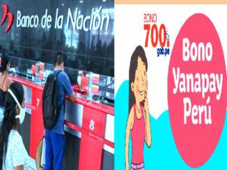 nuevo Bono Yanapay Perú