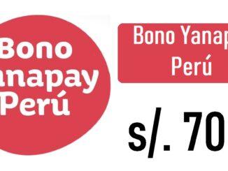 Bono Yanapay Perú de 700 soles