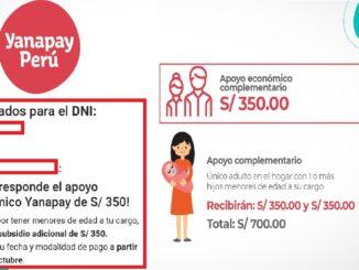 Bono Yanapay consulta si podrás recibirlo desde hoy, 5 de octubre y en qué modalidad