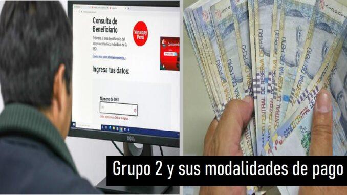 Grupo 2 y sus modalidades de pago